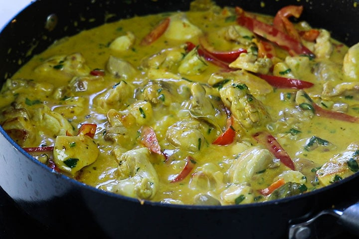 The Quick and Easy Thai Panang Curry cooked and ready to serve