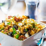 10 minute Greek Style Couscous Salad with Feta