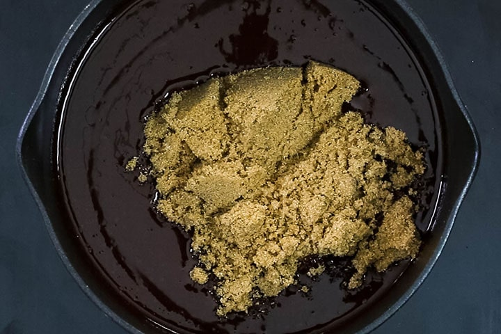 The brown sugar added to the pot