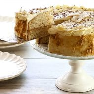 Caramel Banana Cake with Whipped Cream Frosting