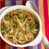 a bowl of quick and easy Chinese noodle soup