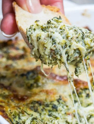 Hot Eggplant and Spinach Dip