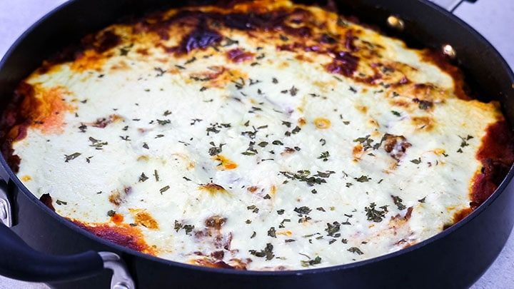 Moussaka baked and ready to serve