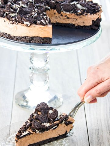 No Bake Chocolate Oreo Cheesecake