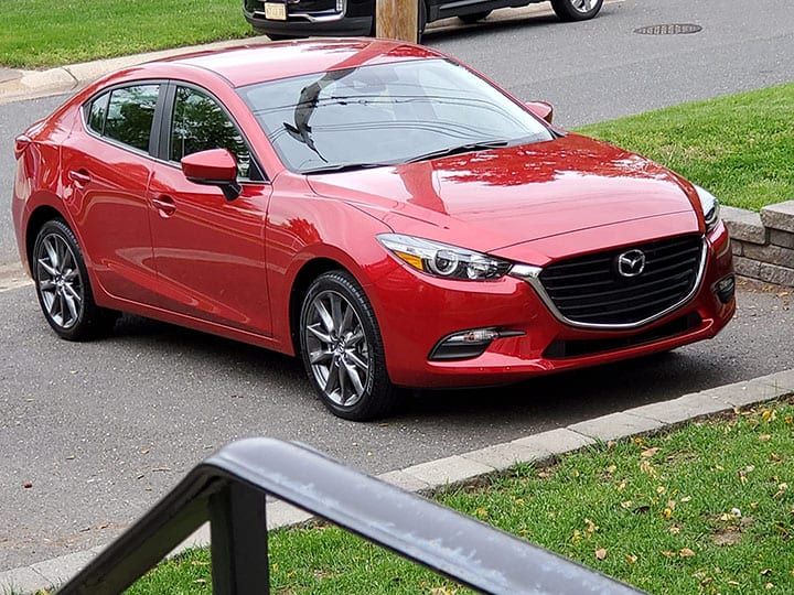 My new red Mazda 3