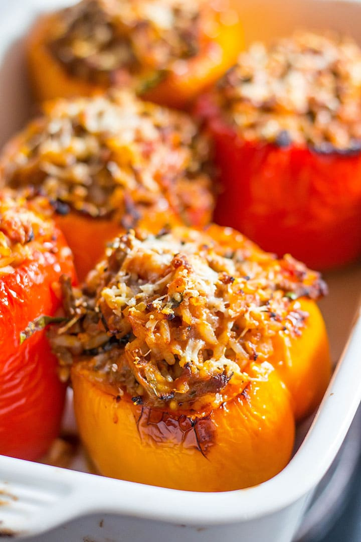 Italian Stuffed Peppers Erren S Kitchen