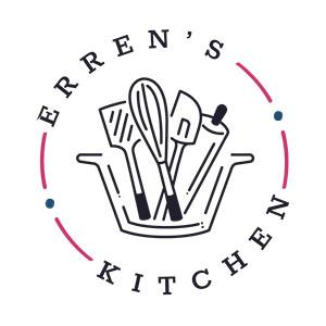 Erren's Kitchen written in a circle surrounding kitchen utensils
