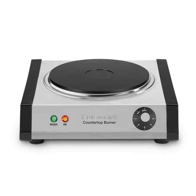 a Cuisinart Countertop Single Burner with a white background