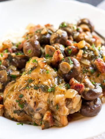 Chicken with Sherry Mushrooms Sauce
