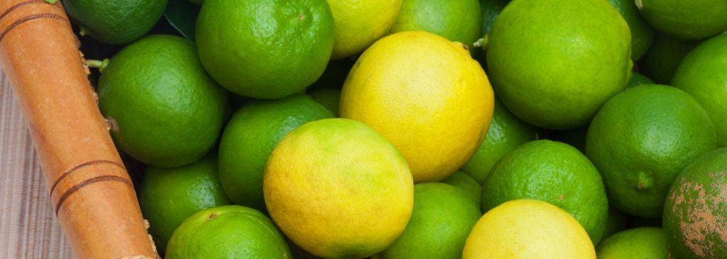 a basket of limes and key limes