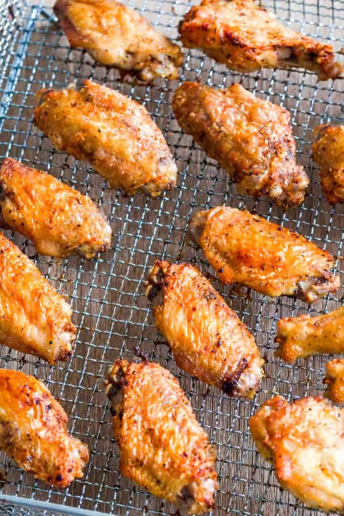 chicken wings on an air fryer rack