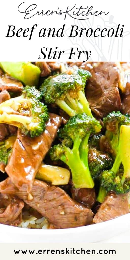 a plate of Beef and Broccoli Stir Fry