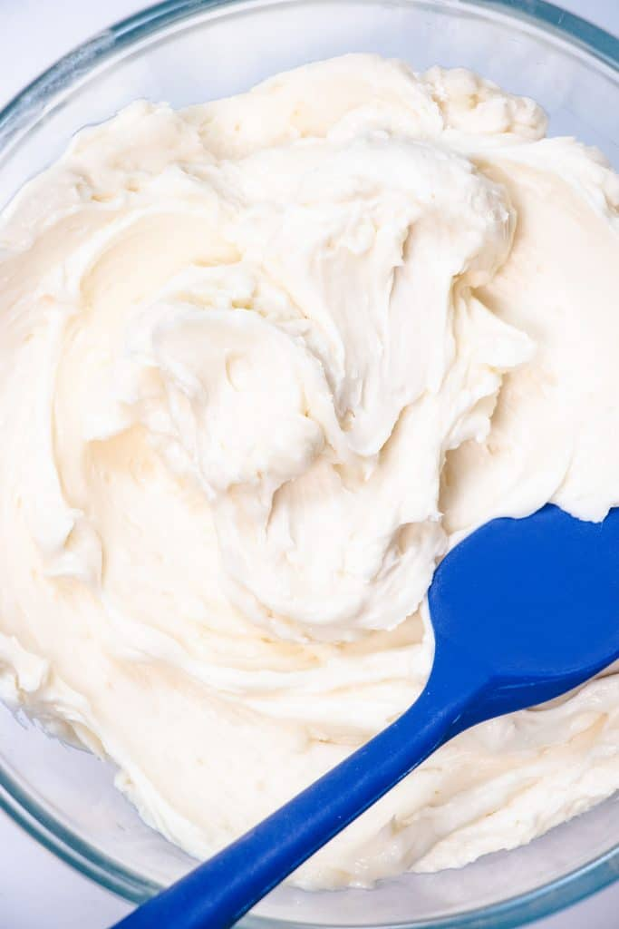 fresh made frosting in a bowl