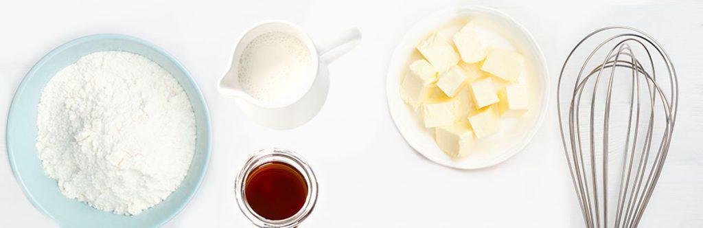 a photo of sugar, cream vanilla and butter