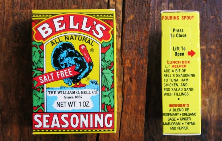 a photo of a box of bell's seasoning
