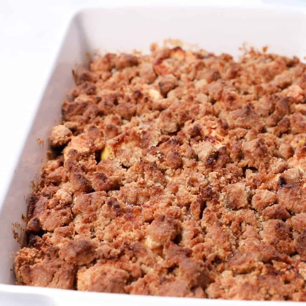 Apple Brown Betty fresh out of the oven