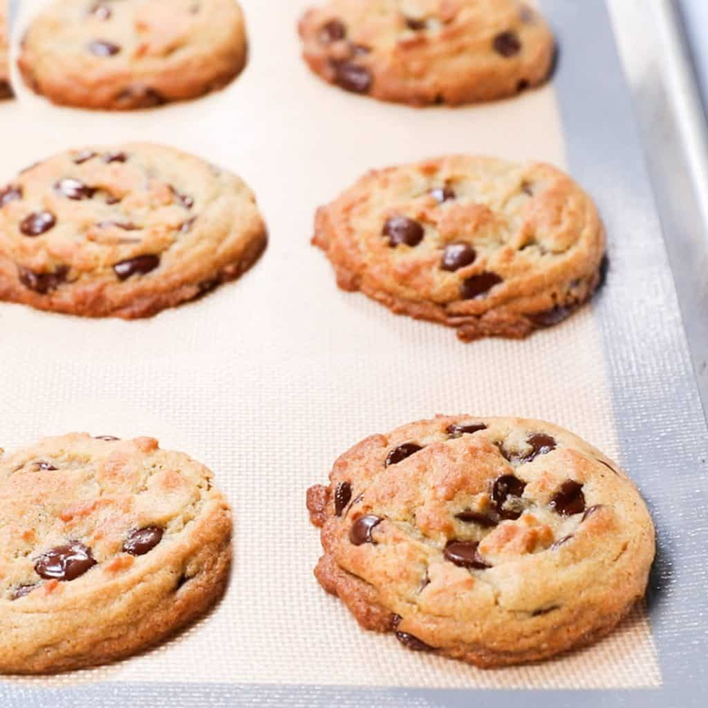 freshly baked cookies on a pan