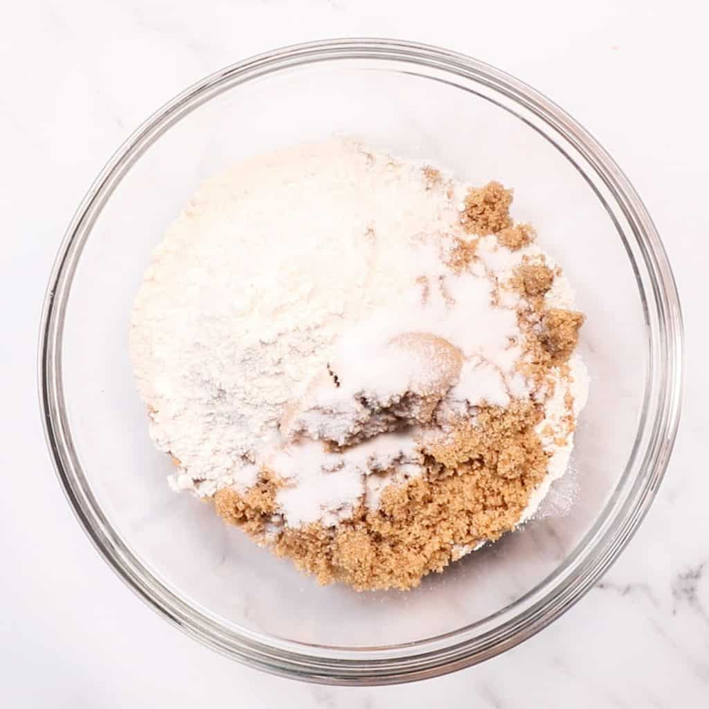 the dry ingredients in a bowl