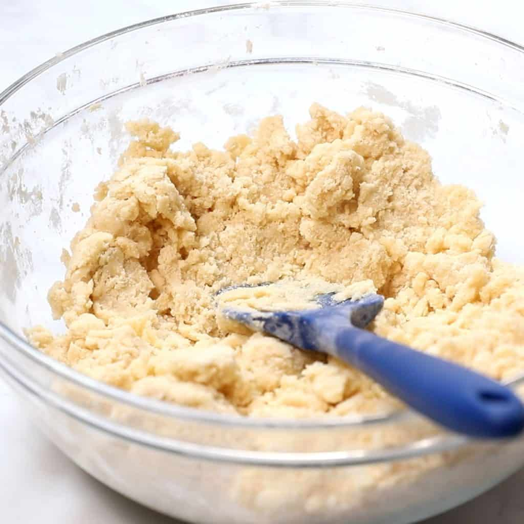 cookie batter ready to bake