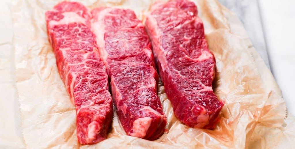 raw short ribs on butcher paper