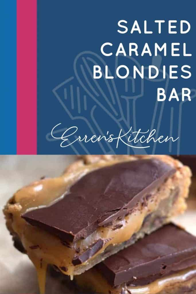 two salted caramel blondies bars