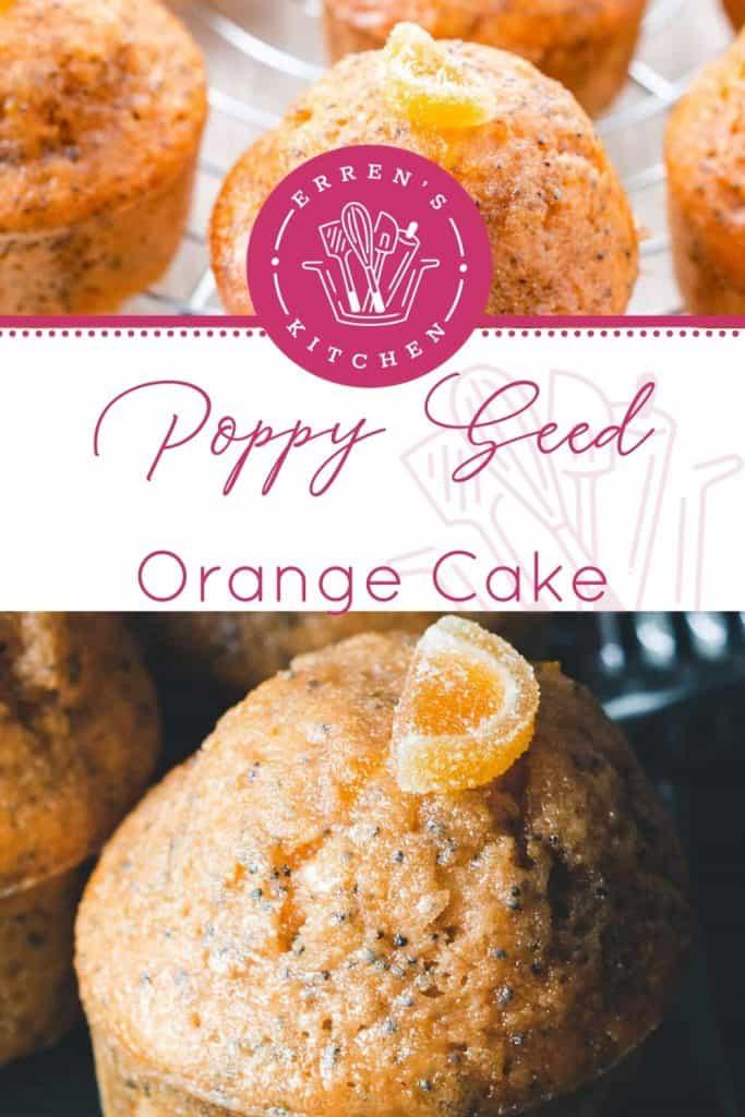 orange poppy seed cakes ready to eat