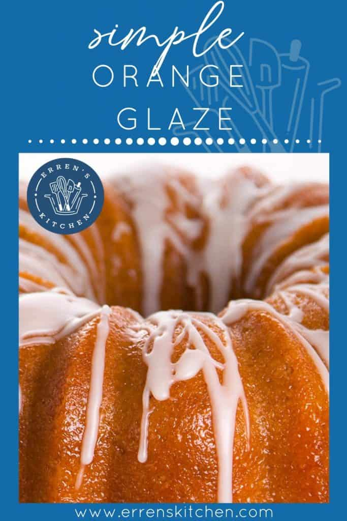 An orange cake covered in the wet claze