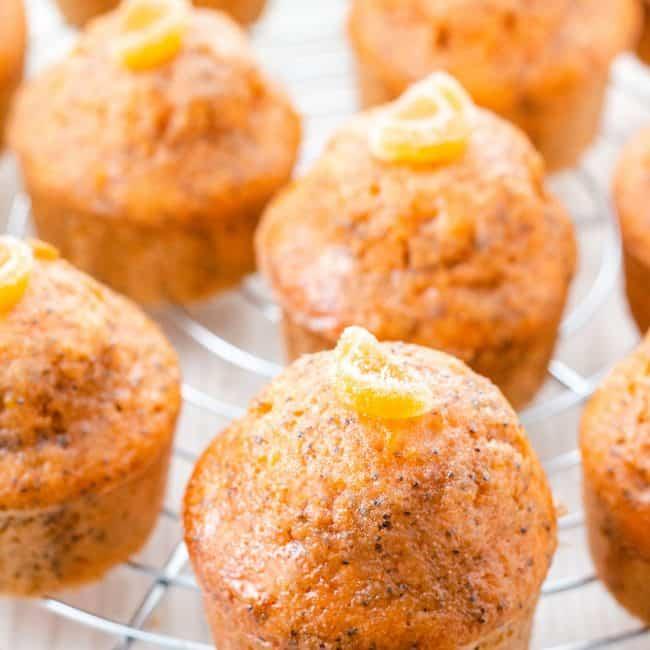 The Orange Poppy Seed Cakes ready to serve