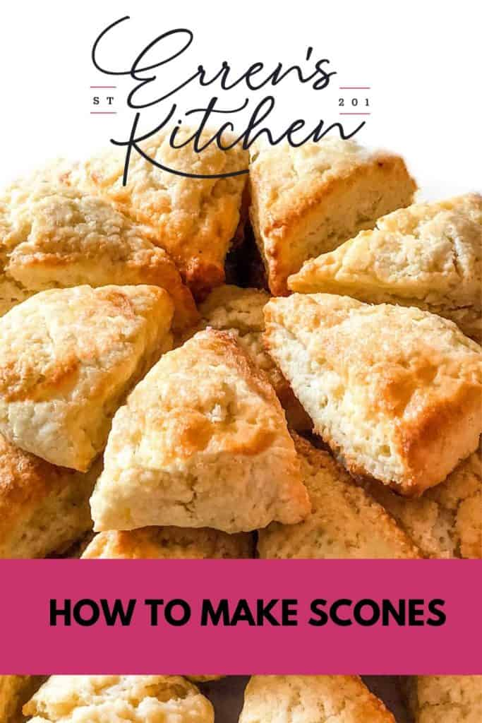 a pile of scones ready to eat
