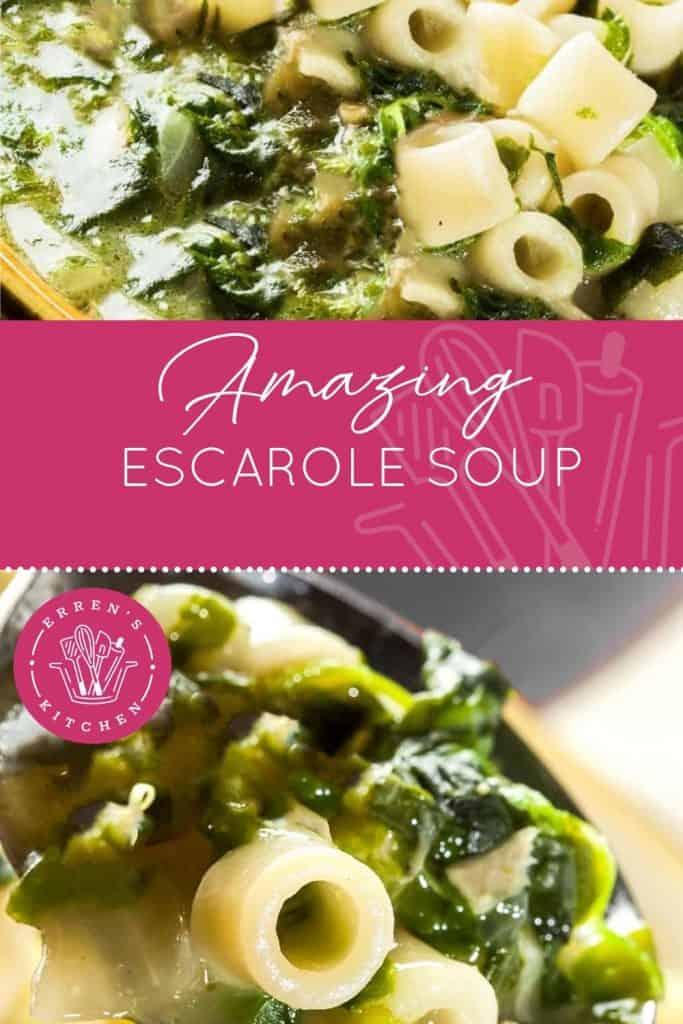 escarole soup ready to eat