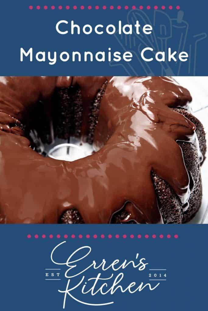 chocolate mayonnaise cake glazed