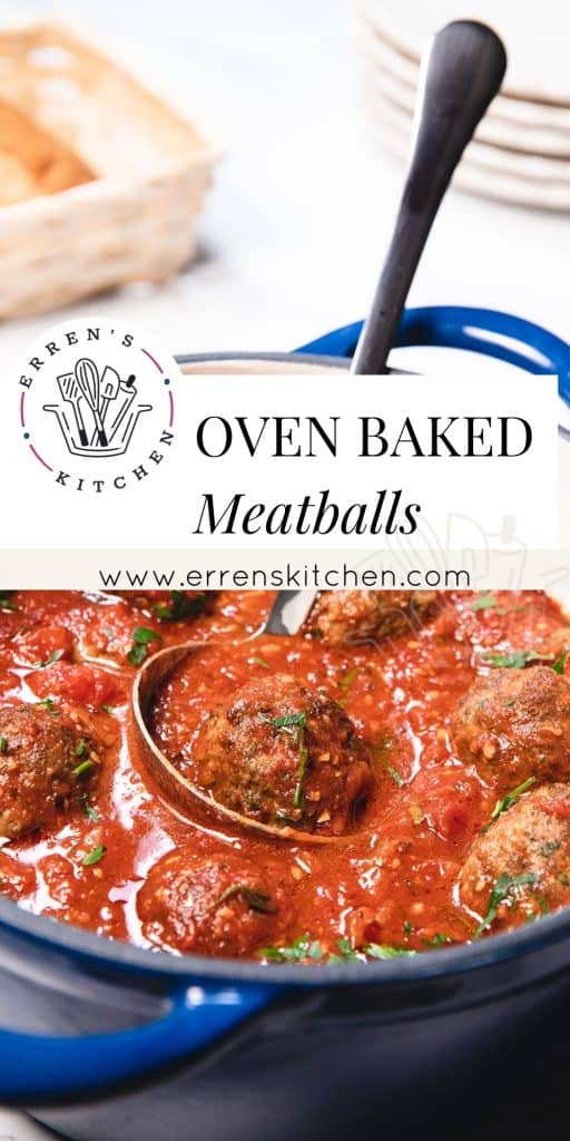 oven baked meatballs in sauce ready to serve