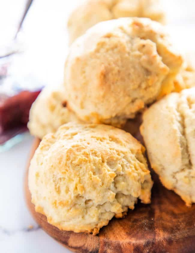 drop biscuits on a plate