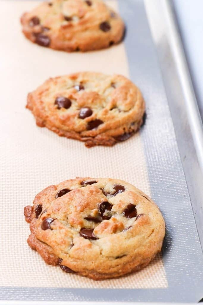baked cookies straight out of the oven