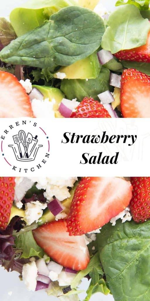 strawberry salad ready to eat