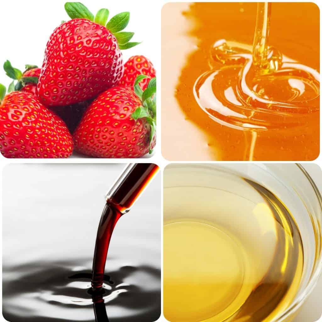 ingredients for strawberry vinaigrette