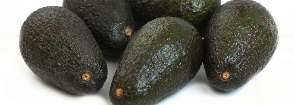 avacados on a white surface