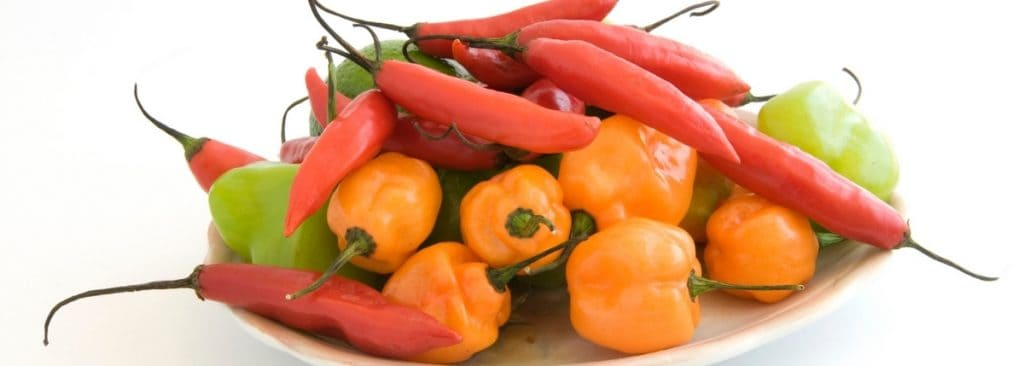 A variety of Chile Peppers