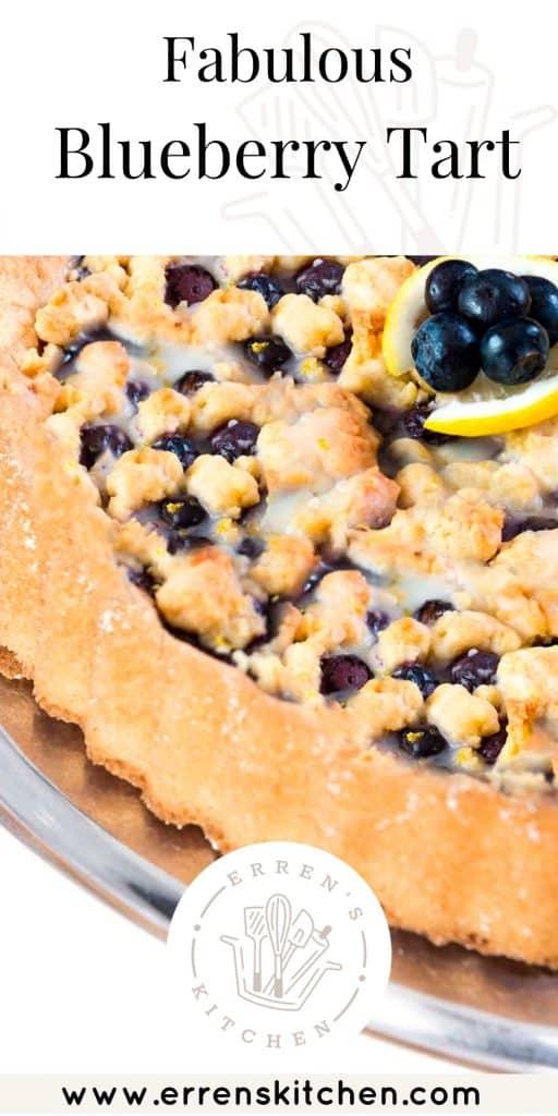 overhead shot of a blueberry tart