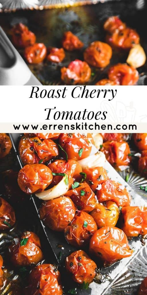 cherry tomatoes on an oven tray